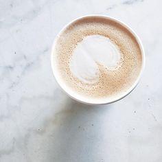 Chai latte at Variety in Williamsburg, Brooklyn. Foamy love.  #coffeeart #coffeeshop
