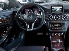Inside the CLA 45 AMG.