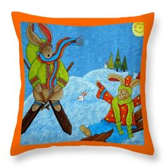 Let It Snow Throw Pillow for Sale by Tracy Campbell