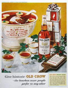 1961 Old Crow whiskey ad from #RetroReveries