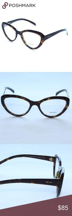 4acbbe87b8a5 Prada Frames Cat Eye Plastic Eyeglasses VPR 25R 2A Brand new 100% authentic  Prada Frames
