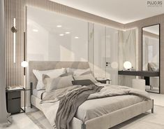 ENCHANTING BEDROOM on Behance Modern Luxury Bedroom, Modern Bedroom Design, Home Room Design, Luxurious Bedrooms, Bed Design, Living Room Designs, Bedroom Closet Design, Master Bedroom Design, Bedroom Decor
