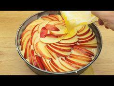Dacă aveți câteva mere acasă, o rețetă rapidă și ușoară de plăcintă cu mere # 178 - YouTube Apple Pie Recipe Easy, Apple Pie Recipes, Beef Recipes, Cake Recipes, Sunday Breakfast, Breakfast Cake, No Cook Desserts, Party Desserts, Baked Apples