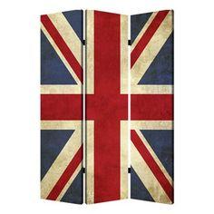 Union Jack Screen room divider #decor #British #screens