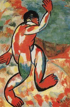 Kazimir Malevich - Bather, 1911, gouache on paper