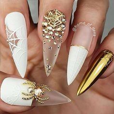 Cute Halloween Nails, Halloween Acrylic Nails, Halloween Nail Designs, Best Acrylic Nails, Diy Halloween, Halloween Recipe, Women Halloween, Halloween Games, Halloween Projects