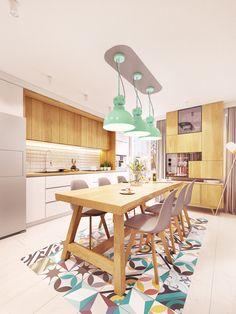 Zarysy Jan Sekuła - Pracownia Architektury, Wnętrz i Designu - Back To The Future Back To The Future, Home Interior Design, Dining Table, House, Furniture, Home Decor, Kitchens, Feels, Behance