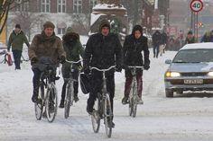 Winter Traffic Copenhagen Quartet by Mikael Colville-Andersen, via Flickr