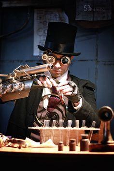 (steampunk scientist) by Suhareva Julia