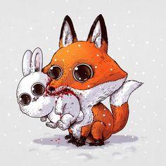 So cute & horror animals