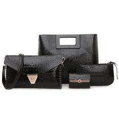 Handbag Shoulder Bag Purse Card Holder 4 Piece Set #>=#>=#>=#>=#> Click on the pin to check out discount price, color, size, shipping, etc. Save and like it!