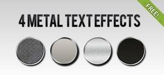 4 Free Metal Text Effect Styles   Free PSD Files