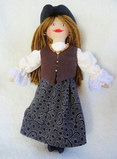 Pirate Girl Doll  OOAK Cloth Doll by Joelles Dolls, $35.00