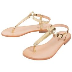Cocobelle Michela Sandals ($128) ❤ liked on Polyvore featuring shoes, sandals, flats, gold, sandals - flat, women, flat shoes, flat sandals, cocobelle shoes and gold shoes