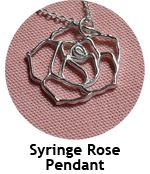 Silver clay rose