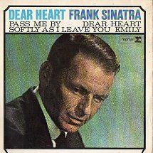 45cat - Frank Sinatra - Dear Heart - Reprise - USA Mens Sunglasses, Usa, Heart, Sleeves, Style, Swag, Men's Sunglasses, Cap Sleeves, Hearts