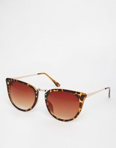 d0b3f04acd4 Cat-eye sunglasses by ASOS Collection Tortoiseshell frames Moulded nose pads  for added comfort Gradient tinted lenses Slim arms with curved temple tips  for ...