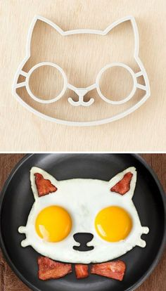 Kitty egg mold