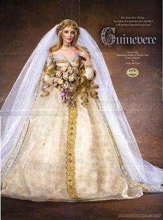 Legendary Bride Series 2003 – 2004: Guinevere, by Cindy McClure. Reproduction by Ashton Drake