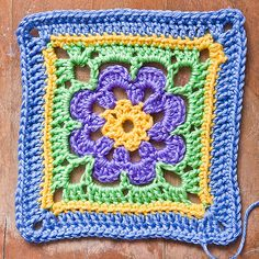 Ravelry: Free SmoothFox's Just Peachy Blossom 6x6 pattern by Donna Mason-Svara
