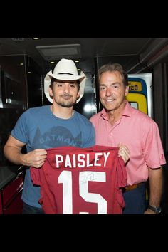 Nick Saban, The University of Alabama, Head Coach and Brad Paisley, Country Music Star ~ Native West Virginians