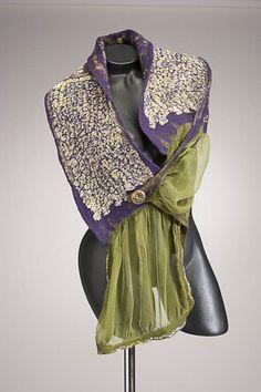 """p. 55 """"Le Style ou l'Art Nouilles (The Noodle Style or Art Nouveau)"""" by Teresa Bystrom Couture Felt"""