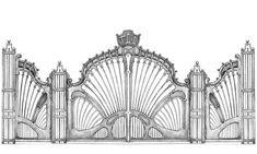 Кованые ворота mykinino Metal Gates, Metal Railings, Wrought Iron Gates, House Main Gates Design, Iron Gate Design, Classic House Design, Custom Gates, Sliding Gate, House Of Beauty