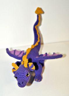 Spyro the dragon amigurumi. by Kawaiirumis on Etsy