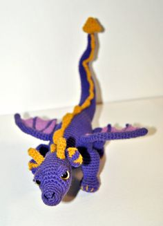 Spyro the dragon amigurumi.