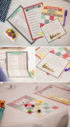 baby shower game cards - A Gender Neutral, Children's Book Themed Baby Shower