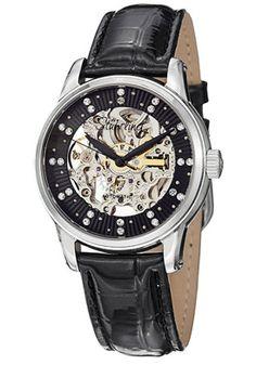 Stuhrling Original Black Dial Black Leather Watch - $179.99