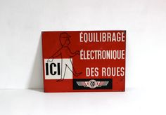 French Vintage Wall Sign // Enamel Road Sign by LePasseRecompose