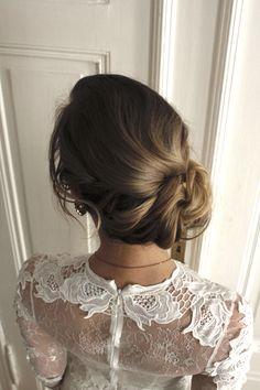 Brautfrisur updo - chignon , bridalhair , hochsteckfrisur , hairstyle , haarknoten , hochzeit , weddinginspo