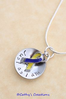 Marissa Down Syndrome Awareness Pendant  only $15 to help support this and $5 goes to NDSS