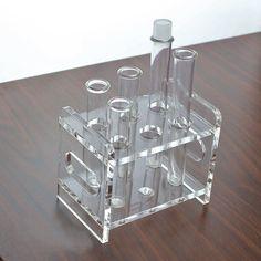 Custom high quality plastic display stand plexiglass test tube rack