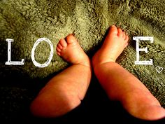 My own version of LOVE feet. #baby #photography