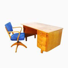 skandinavischer vintage schreibtisch stuhl von tvidaberg 1950er jetzt bestellen unter - Herman Miller Schreibtischsthle
