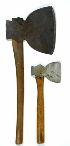 Collins broad ax and broad hatchet. MUS OF FUR TRADE