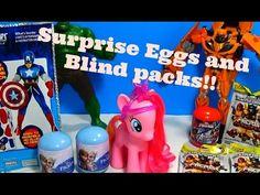 SURPRISE EGGS AND BLIND PACKS!! TRANSFORMERS AVENGERS FROZEN SURPRISE EGGS - YouTube