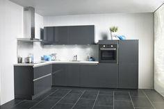 keuken antraciet blad wit