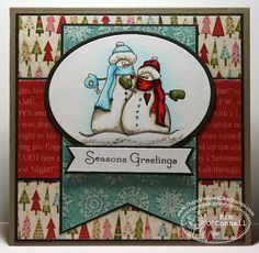 """Paper Perfect Designs by Kim O'Connell: There She Goes Clear Stamps """"Seasons Greetings"""""""