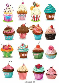 29 Ideas cupcakes dibujos illustration for 2019 Cupcake Illustration, Illustration Art, Cupcake Kunst, Cupcake Art, Cupcake Clipart, Cupcake Vintage, Vintage Pink, Cupcakes Wallpaper, Christmas Cupcakes Decoration