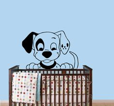 Nursery Wall Decal Dalmatian Dog  Puppy Crib Vinyl by CozyDecal, $17.99