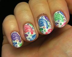 Lacquer Buzz: Colorful Paisley + tutorial