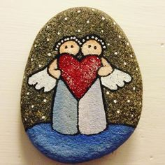 Glædelig jul #jul #glædeligjul #merrychristmas #imadethis #rock #painting #engle