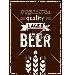 Design of beer label vector by volkovaa on VectorStock®