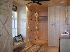A nice tack room with lockers and bathroom! This would be awesome!