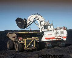 Heavy Machinery by Terex - http://MaskinVerket.se #Terex The O &  k RH400(now a Caterpillar) 6090 loading a 380ton 797B
