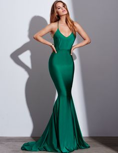 Gemeli Power #green #style Long Dress