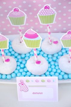 Cupcake Baking Birthday Party Ideas - with DIY decorations, printables and favors! Super cute! - BirdsParty.com @birdsparty